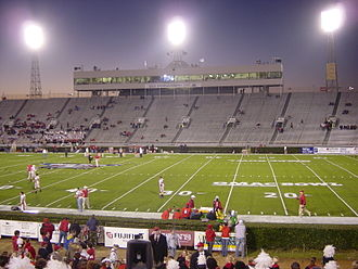 Ladd–Peebles Stadium - Looking west in 2003