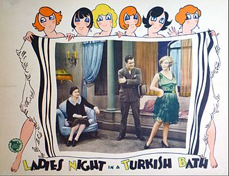 Ladies' Night in a Turkish Bath - Lobby card
