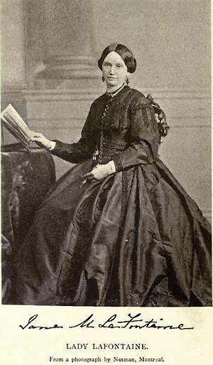 Louis-Hippolyte Lafontaine - Jane Élisabeth Geneviève, Lady Lafontaine, by Notman