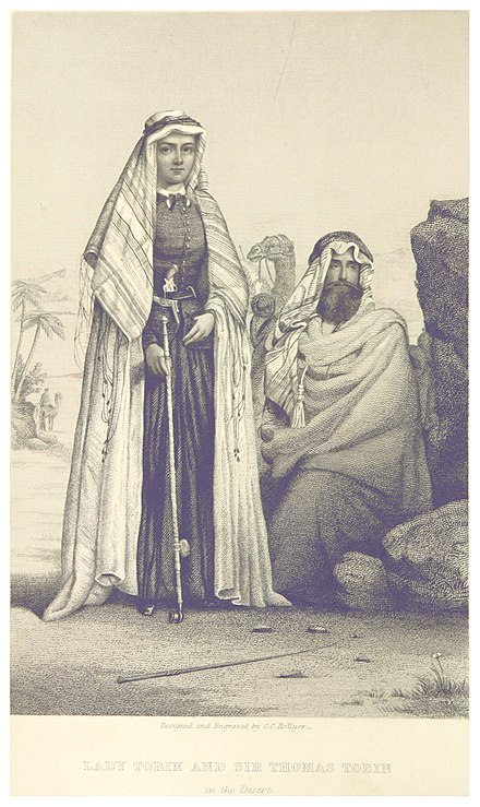Catherine and Thomas Tobin in Egypt. Lady Tobin and Sir Thomas Tobin.jpg