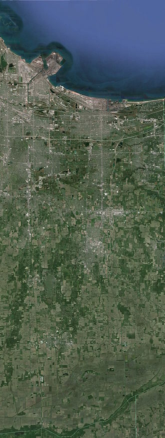 Lake County, Indiana - Satellite imagery of Lake County, IN