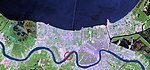 Lake Pontchartrain and New Orleans April 26 2000 cut-circle.jpg