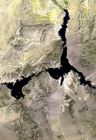 Lake Mead National Recreation Area - Satellite image of Lake Mead
