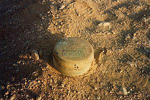 Land mines in North Africa - Land mine from WW II at Bir Hakeim, Libya