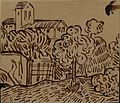 Landscape with Tree, attributed to Vincent van Gogh, dark brown ink drawing.jpg