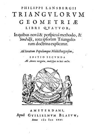 Philippe van Lansberge - Triangulorum geometriae libri quatuor, 1631