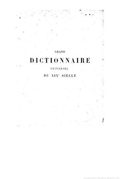 File:Larousse - Grand dictionnaire universel du XIXe siècle - Tome 3, part. 1, Ca-Cap.djvu