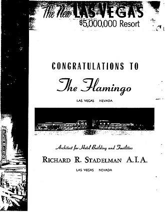 Flamingo Las Vegas - Las Vegas Sun' Ad Congratulating Flamingo's Grand Opening in 1945