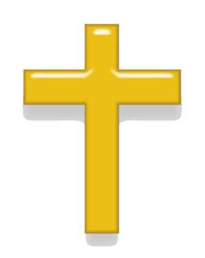 English: Symbol of Christianity, gold version.