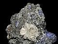 Laumontite, tanzanite, graphite.JPG