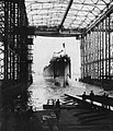 Launch of USS Roanoke (CL-145) at the New York Shipbuilding Corporation on 16 June 1947.jpg
