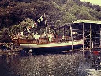 Tall Ship Atyla - Launching in Lekeitio (Spain) in 1984