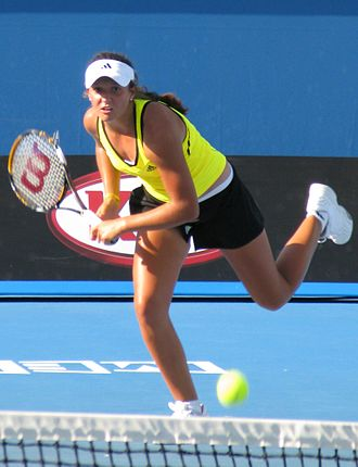 Laura Robson - Robson on her way to her second junior slam final at the 2009 Australian Open; she repeated the trip a year later