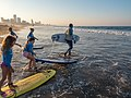 Learning to surf with Ocean Adventures, Durban beach front. KwaZulu Natal, South Africa (19892185933).jpg
