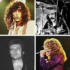 A photo montage of Led Zeppelin