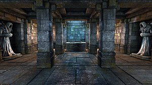 Legend of Grimrock - Screenshot of Legend of Grimrock showing an altar room