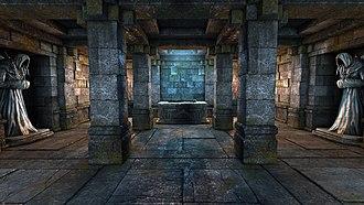 Legend of Grimrock - Screenshot of Legend of Grimrock showing an altar room