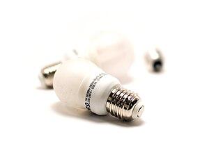 Low energy lightbulbs.