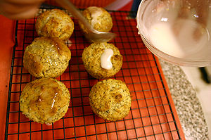 Lemon Poppy Seed Muffins Cooking Glazing