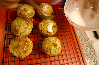 Lemon Poppy Seed Muffins Cooking Glazing.jpg