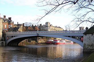 Bridges of York - Lendal Bridge from the South Bank, looking downstream