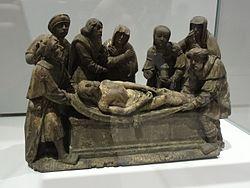 Français: Fragment de retable: la mise au tombeau du Christ