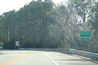 Leon County, Florida - The sign for Leon County on State Road 20