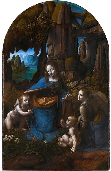 Dosiero:Leonardo da Vinci Virgin of the Rocks (National Gallery London).jpg
