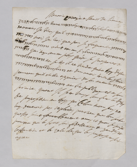 Letter from Queen Christina to Decio Azzolino in the National Archives of Sweden See Wikimedia Commons for the others. Category:Letters by Christina of Sweden to Cardinal Decio Azzolino (1666-1668) Letters 1666 1668 Queen Christina to Decio Azzolino National Archives Sweden K394 038 297.png