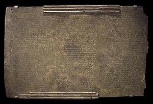 Lex Ursonensis - Table 1 of Lex Ursonensis (M.A.N., Madrid)