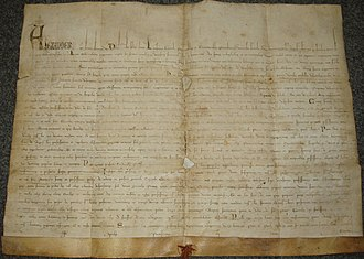 Santa Maria del Popolo - The bull Licet Ecclesiae issued by Pope Alexander IV on 9 April 1256 that established the order.