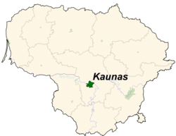 Location of Kaunas的位置