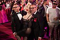 Life Ball 2013 - magenta carpet Amanda Lepore, Dean and Dan Caten 01.jpg
