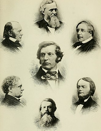 "Saturday Club (Boston, Massachusetts) - ""A Group of the Saturday Club"", from Life and Letters of Oliver Wendell Holmes, 1896"
