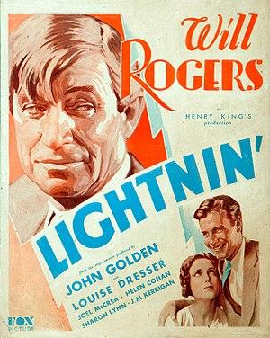 Lightnin' (1930 film) - Theatrical release poster