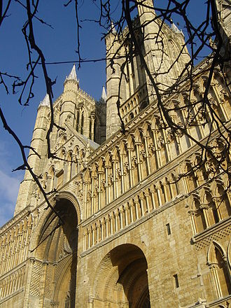 Lincoln Cathedral - Norman West front
