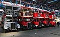 Line-up of RT buses inside Barking bus garage (geograph 6106538).jpg