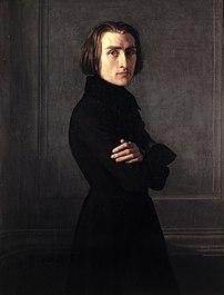 Liszt in 1839 by Henri Lehmann