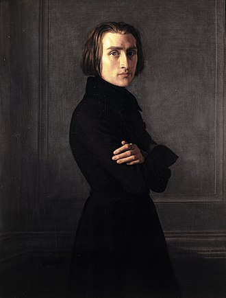 Henri Lehmann - Portrait of Franz Liszt, ca. 1839