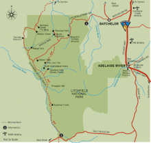 Litchfield National Park Map Litchfield National Park – Travel guide at Wikivoyage