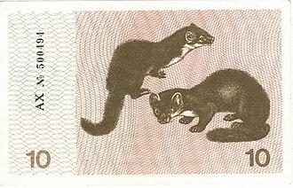 Куницы-белодушки на литовских вагнорках, 1991