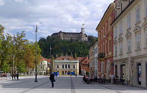 Hill castle - The Ljubljana Castle in Slovenia is Medieval fortress, built in the 11th century and rebuilt in the 12th century.
