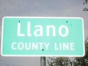 Llano County marker, Kingsland, TX IMG 1949.JPG