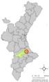 Localització de Benicolet respecte del País Valencià.png