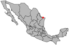 Map of Mexico highlighting the city of Reynosa Image: Mixcoatl.