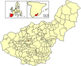 Jun, Granada - Location of Jun in Granada, Spain.