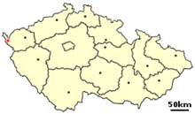 Location of Czech city Frantiskovy Lazne.png