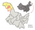 Location of Xinlin within Heilongjiang (China).png