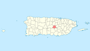 Location of Barranquitas in Puerto Rico