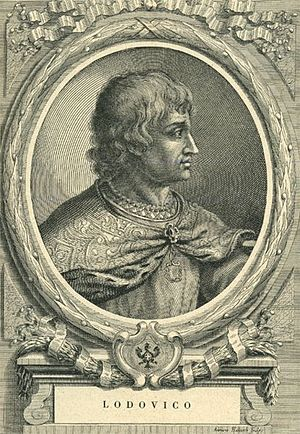 Louis, Duke of Savoy - Etching by Francesco Maria Ferrero di Lavriano (1702)